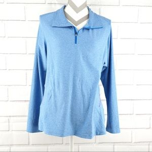 Champion XL fitted blue pullover performance shirt